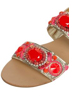 Leather Gem Sandals