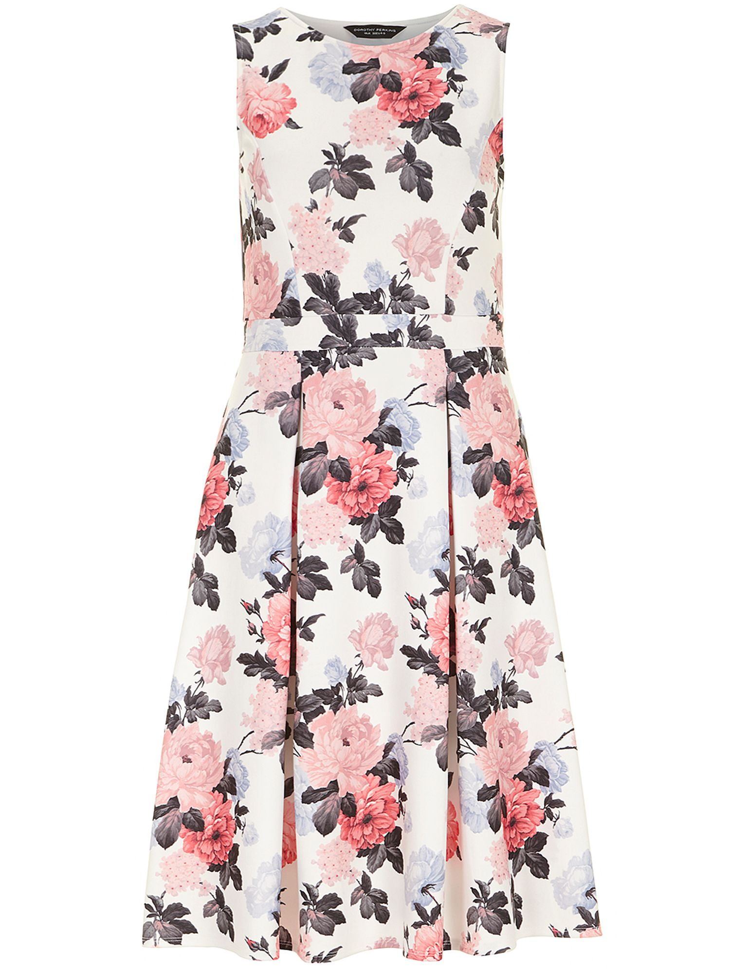 Floral neoprene dress