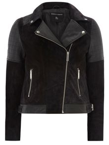 Real Leather Suede Back Jacket