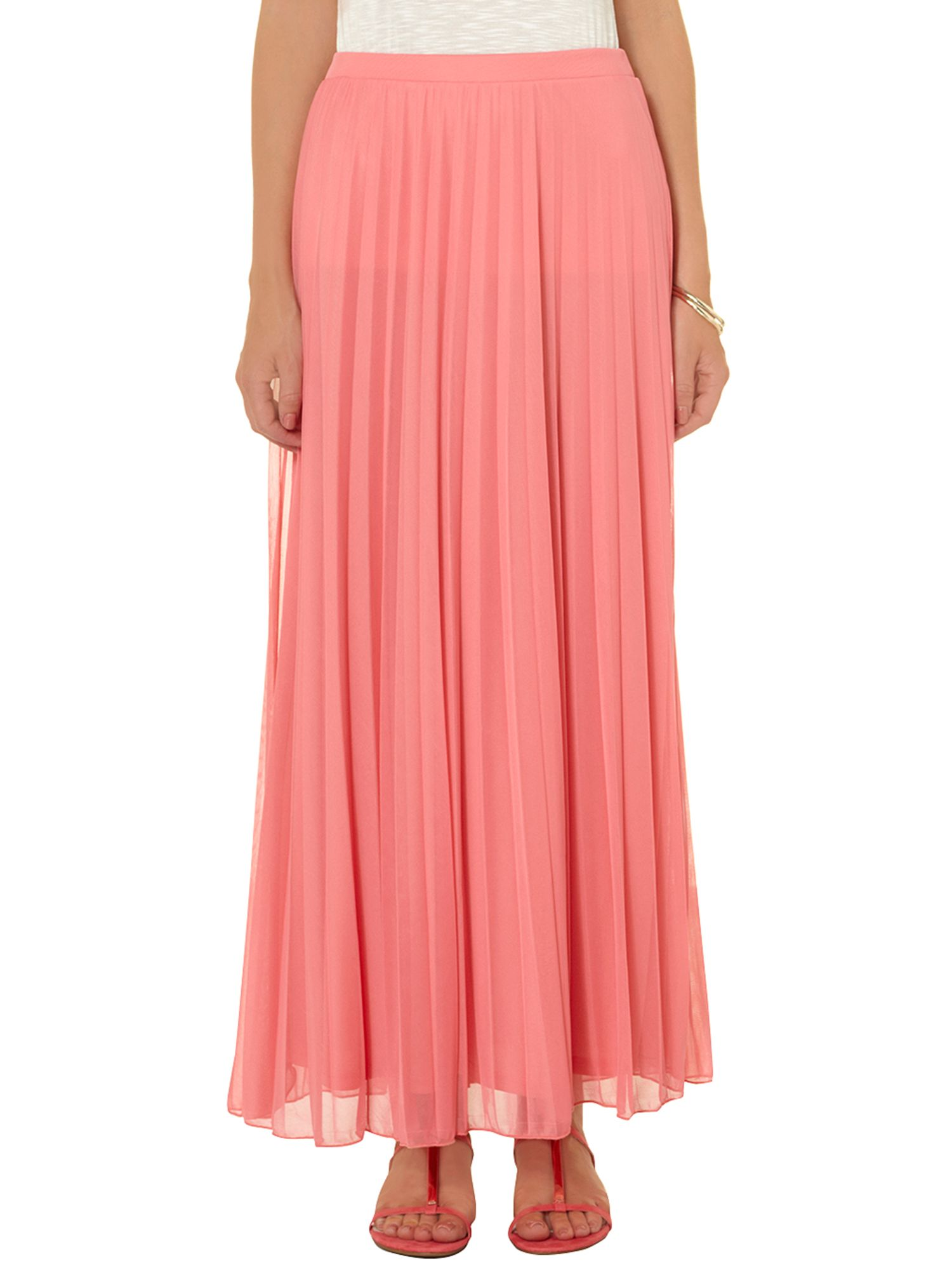 Double mesh layer maxi skirt