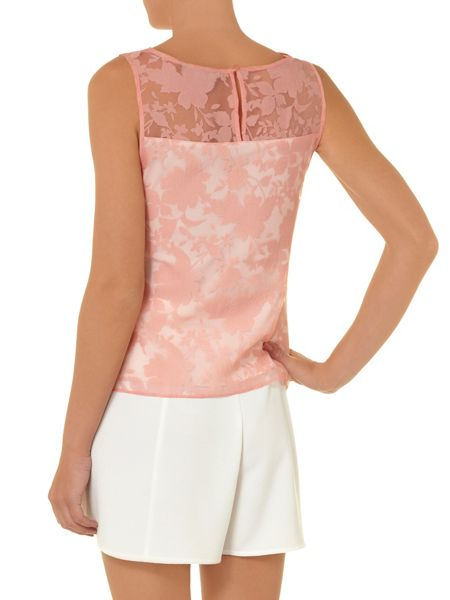 Dorothy Perkins All about rose burnout shell top
