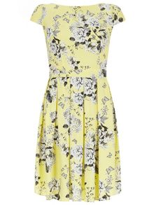 Soft fit and flare dress