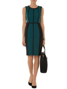 Taped Textured Dress