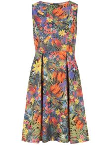 Tropical Floral Neoprene Dress