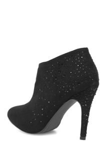 Shoe boots with gem heel detail