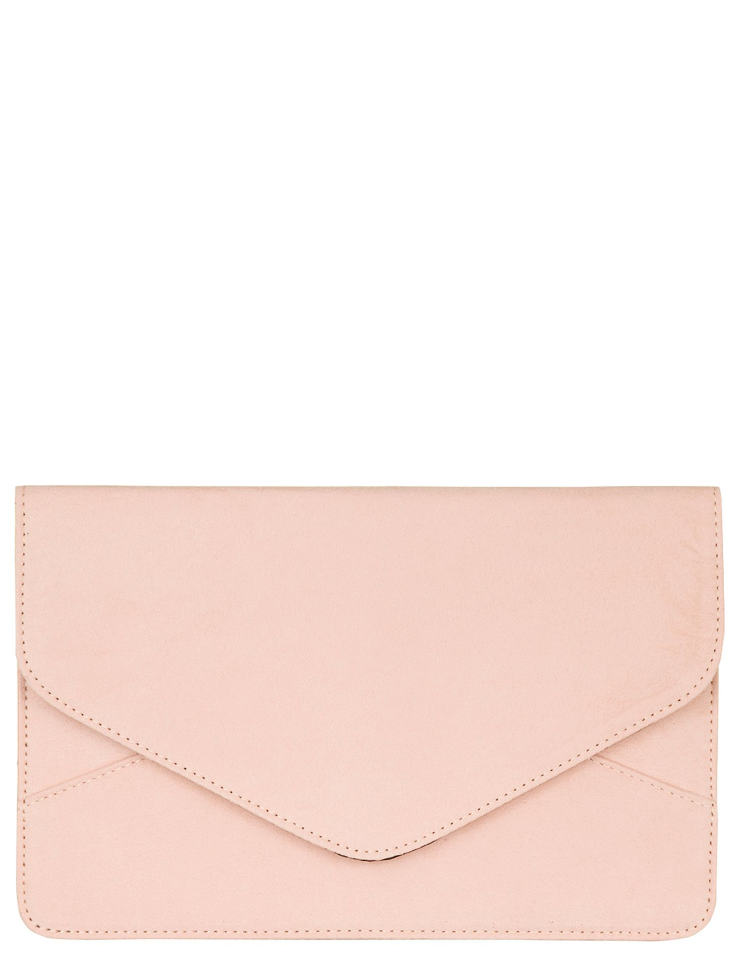 Coral suede envelope clutch