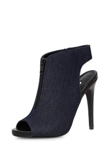Denim Peep Toe Show Boot