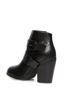 Heeled Ankle Boots With Strap