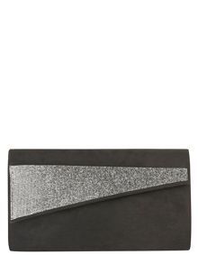 Asymmetric Glitter Clutch Bag