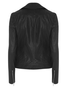 Tall Faux Leather Biker