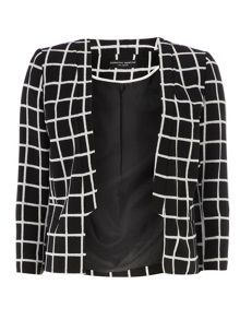 Monochrome Check Tux Jacket
