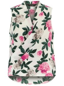 Floral Sleeveless Wrap
