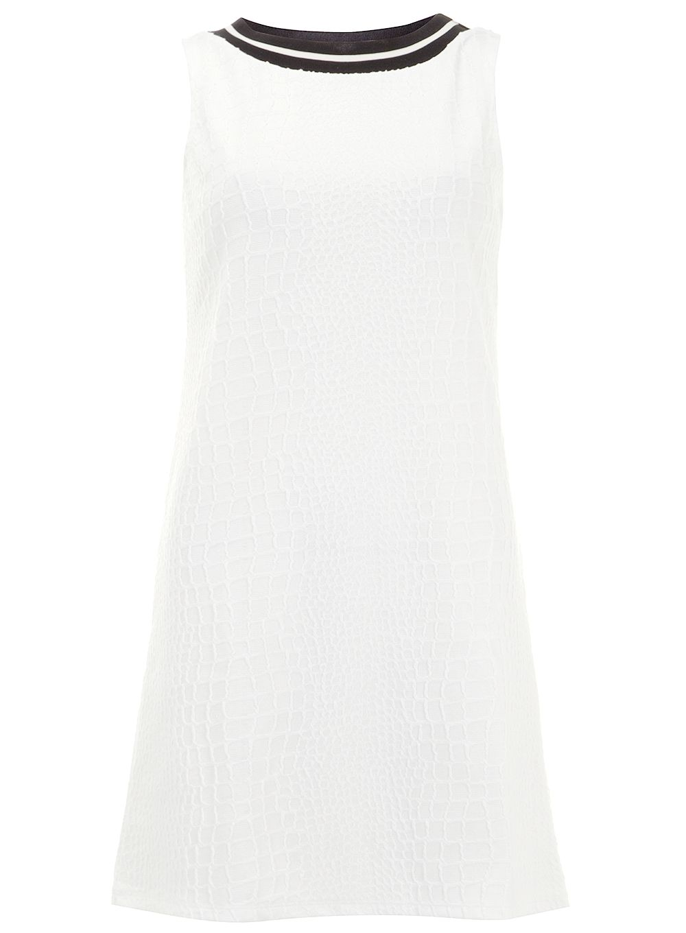 Rib Text Shift Dress