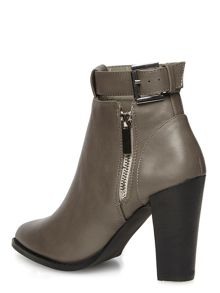 Heeled Ankle Boots With Zips