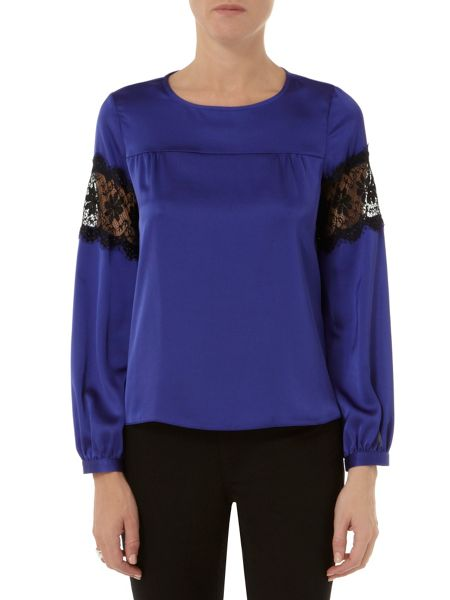 Dorothy Perkins Lace Insert Long Sleeve Top