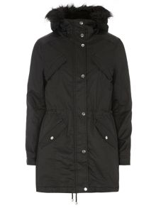 Coated Hooded Parka