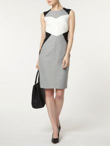 Mono Geo Colourblock Dress
