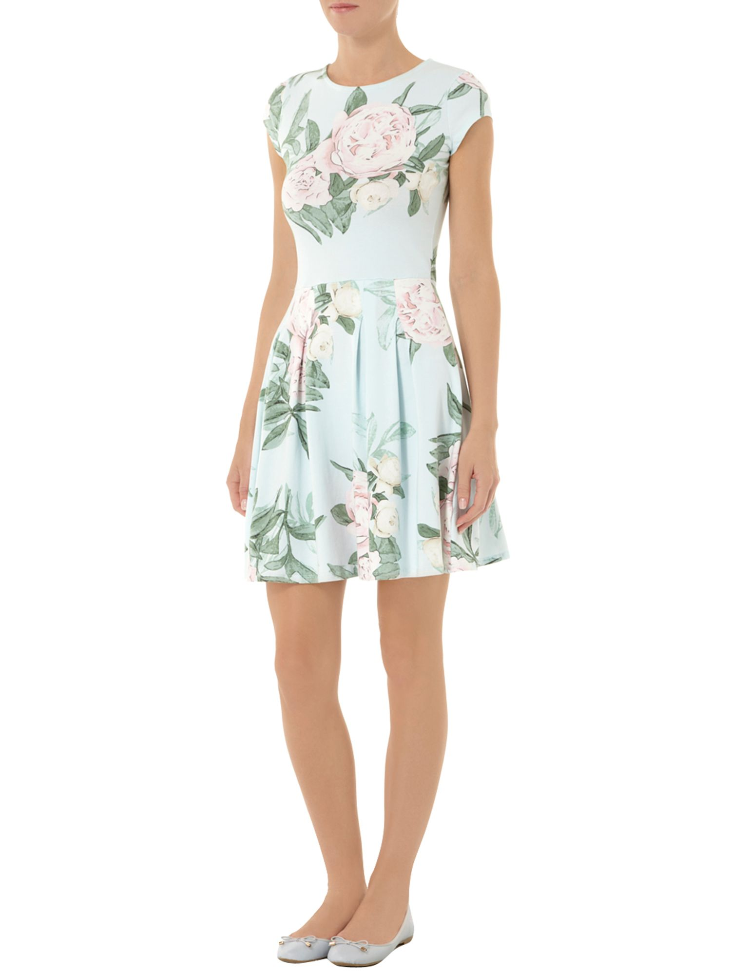 Floral Boxpleat Dress