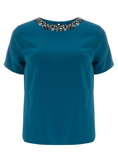 Dorothy Perkins Embellished Short Sleeve T-Shirt