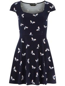 Butterfly sweetheart dress