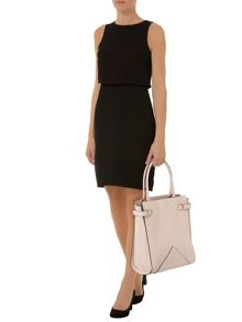 Double Layer Crepe Dress
