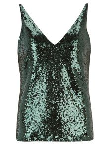 Sequin V Neck Camisole