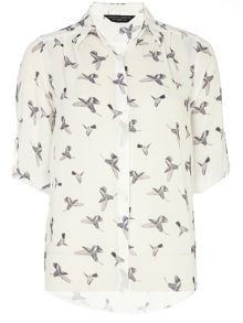 Bird Rollsleeve Top