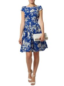 Linear Fit and Flare Dress