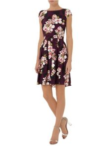 Garden Floral Fit and Flare Dress