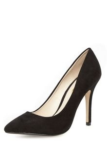 Edith Pointed Suedette Court Shoe