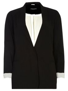 Dorothy Perkins Collarless Crepe Boyfriend Jacket