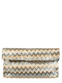 Sequin Foldover Clutch Bag