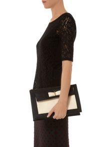 Bow Front Clutch Bag
