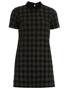 Petite Check Shift Dress