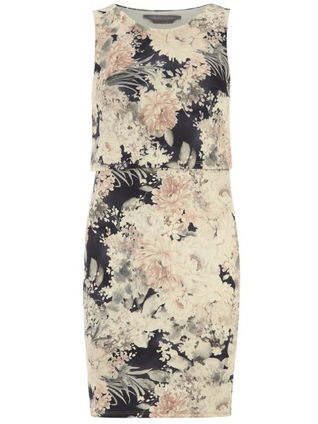 Dorothy Perkins Petite Floral Scuba Dress