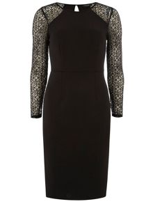 Lace Sleeve Pencil Dress