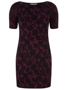 Rose Jacquard Pencil Dress