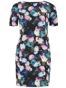 Petite Floral Pencil Dress