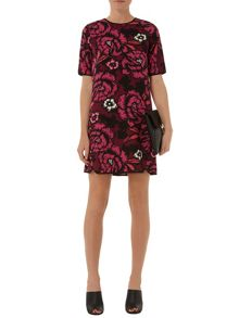 Shadow Floral Shift Dress