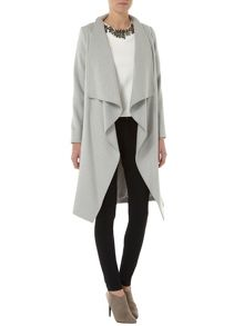 Wool Edge To Edge Waterfall Coat