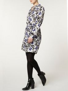 Flower Shirt Dress
