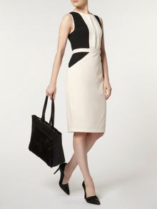 Pintuck Pencil Dress