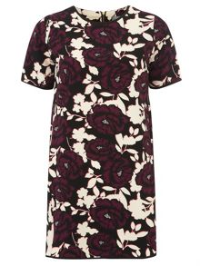 Petite Floral Crepe Shift Dress