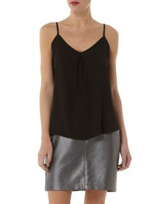 Pleat Front Camisole Top