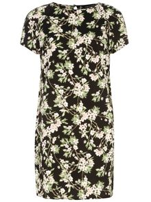 Blossom Shift Dress With Contrast Detail