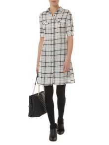 Luxe Check Shirt Dress