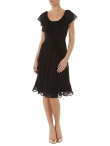 Frill Fit And Flare Dress