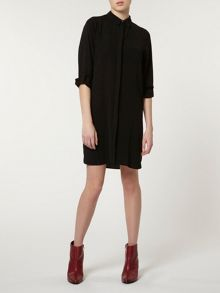 Roll Sleeve Shirt Dress