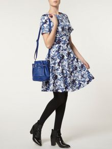 Butterfly Seamed Fit And Flare Dress