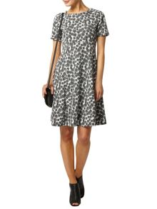 Printed Jacqaurd Dress